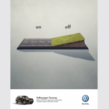 Volkswagen Touareg. Turn the off road on.