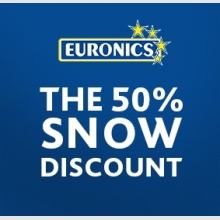 Euronics: the 50% snow discount